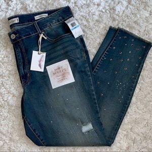 Jessica Simpson Jeans - Jessica Simpson Curvy High Rise Distressed Jeans